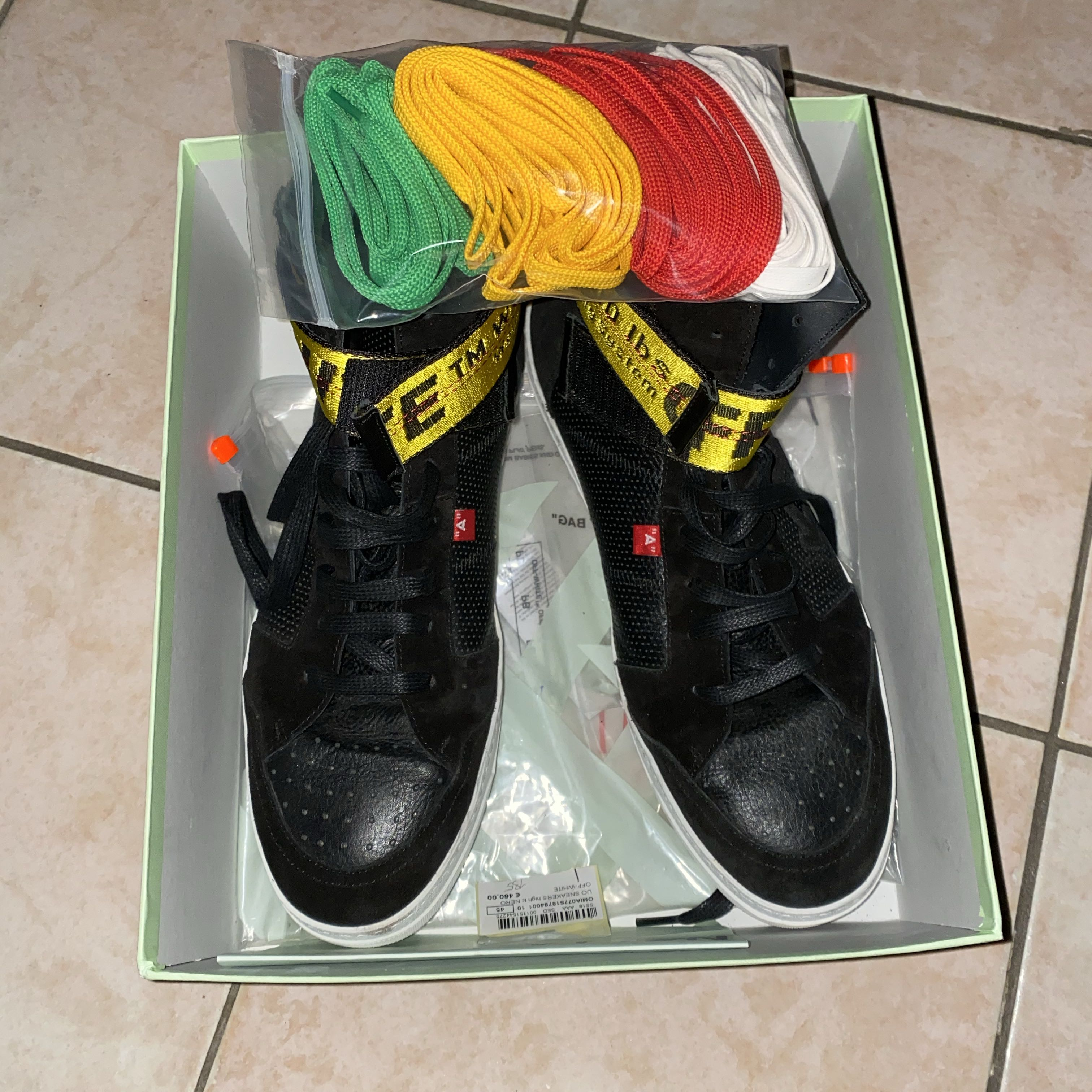 Off white black high top sneakers 45Off-White2