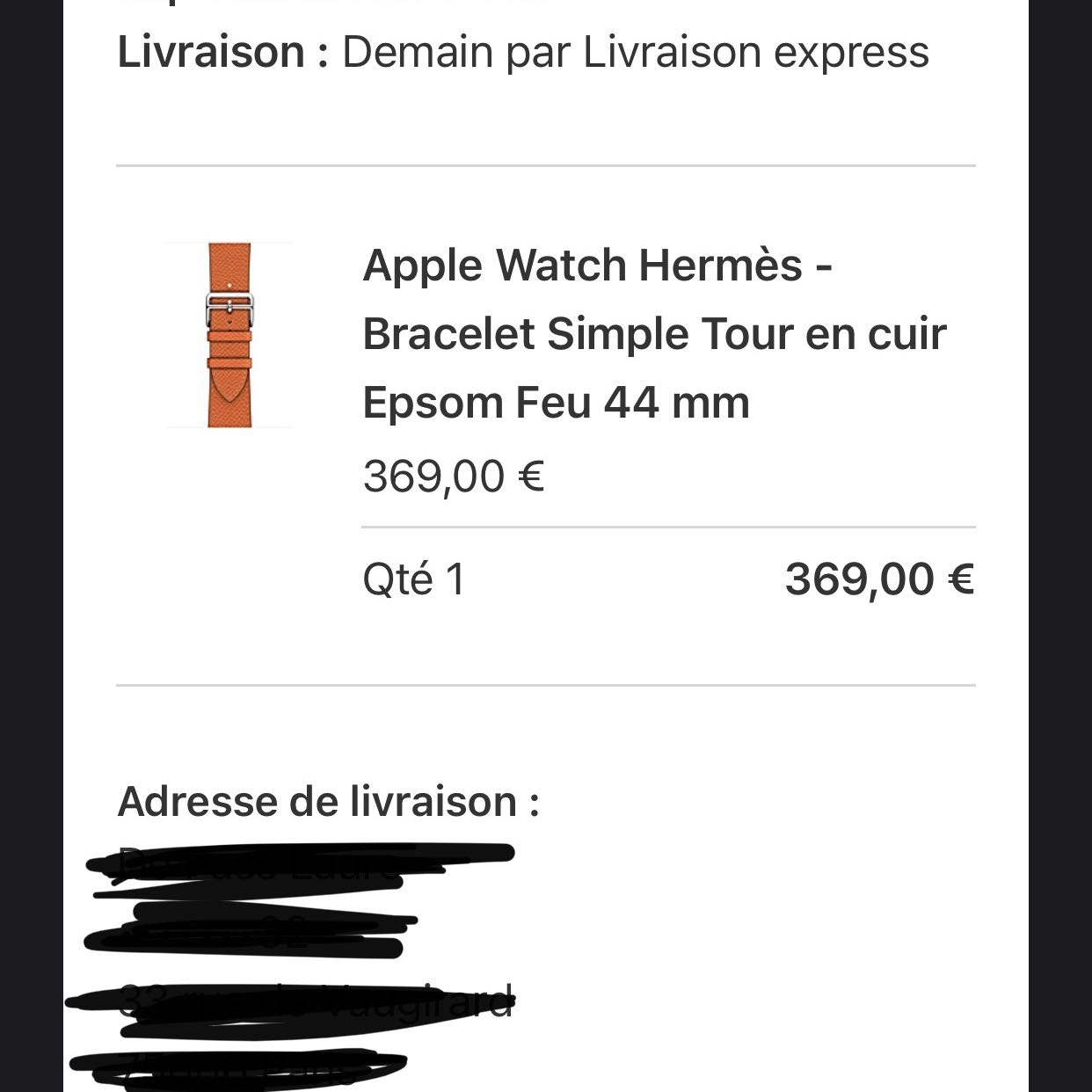 Brand new Apple Watch Hermes 44mm LTE Series 4 03/2021 used band Hermes2