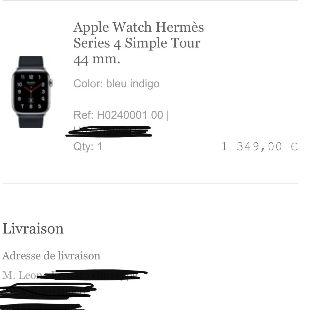 Brand new Apple Watch Hermes 44mm LTE Series 4 03/2021 used band Hermes1